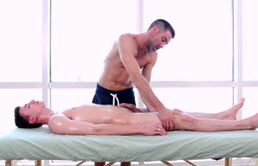 Sexy masseur that sucks dick and fucks his clients in the ass