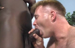 Big black cock in a mature passive's ass