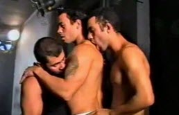 Hot threesome at a gloryhole