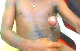 18 years old mulatto has a big cock and masturbates
