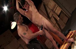 Young guy gets tied, electrocuted and masturbated by a pervert