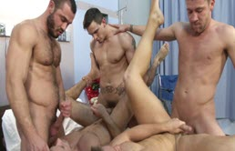 Orgy on the hospital bed