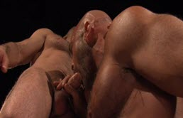 Massive and muscular gay ass fucks a passive baldie