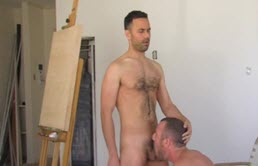 Anal sex and cumshots with two horny guys