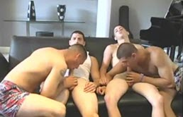 Horny guys suck and ass fuck at a casting
