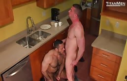 Hot ass fucking in the kitchen