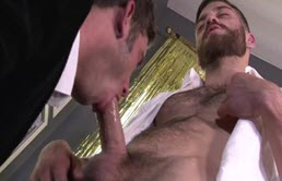 Two hairy guys have oral sex and fuck