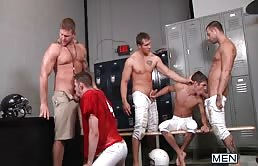Hot orgy with rugby players