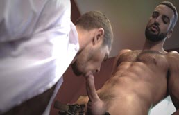 Two sexy men fuck intensely