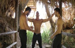 Anal sex with three muscular men