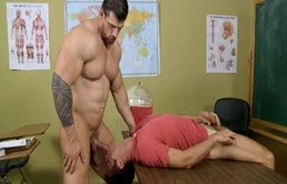 Young student fucks by his big cock teacher