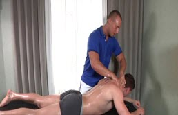 Deep anal penetration after massage