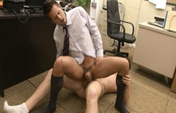 Burning hot anal sex at work