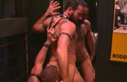 Pervert orgy in a gay bar
