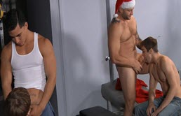 Hot holiday group sex