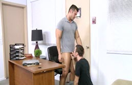 Big cock teacher ass fucks his student