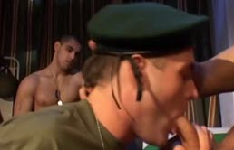 Anal threesome with two army guys and doctor