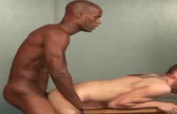 Interracial sex with a sexy guy who loves cocks