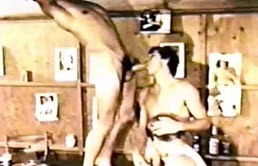 Threesome vintage porn video with anal sex