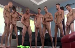 Perverted orgy with mascular horny gays