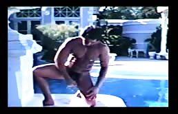 Vintage gay porn masturbation scene