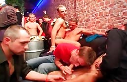 Orgy with hot guys at the club