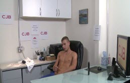 Masturbation in the office for young horny gay