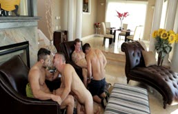 Hot orgy with two couples