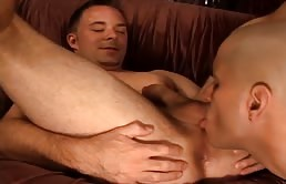 Anal sex with passive licked and fucked
