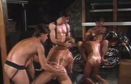 Vintage orgy with hot males