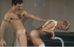 Mature fucks the hot ass of this twink