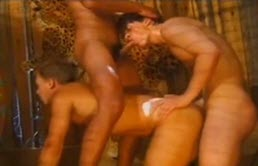 Threesome with young guys in a forest