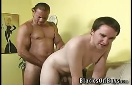 Passive fucked by two perverted guys