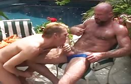 Hairy top fucks a young ass