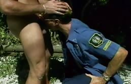 Oral sex between cops having sex outdoor