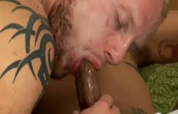 Anal sex with a tattooed passive fucked in the ass