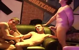 Hot sexual orgy with young guys - part 2
