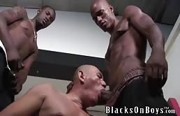 Eager passive wants two big black cocks