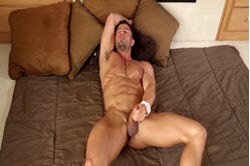Masturbation with muscular sexy guy